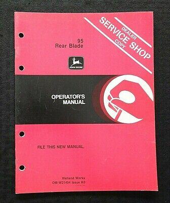 Genuine John Deere 95 Rear Blade Operators Owners Manual Nice