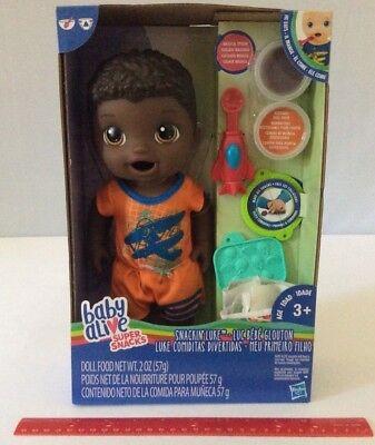 Baby Alive Super Snacks Snackin' Luke Boy Doll African American AA Eats & Poops, used for sale  Kokomo
