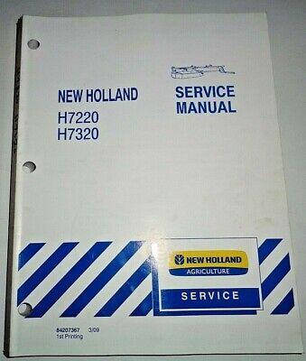 New Holland H7220 H7320 Disc Mower Conditioner Service Repair Manual Original Nh
