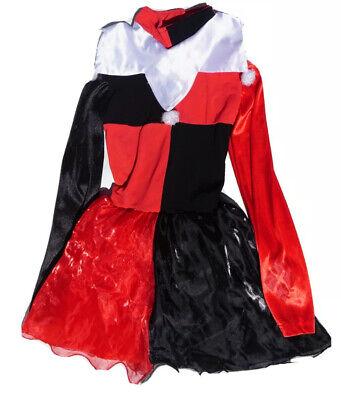 DC Comics Harley Quinn Dress Costume Halloween Girls Size XS