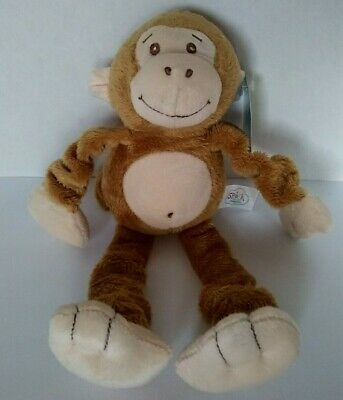 "Spark Baby Monkey Stretchy Plush  Soft Toy 11""  Rattle Squeaker Crinkle  NWT #2"