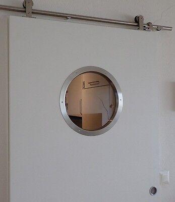 Türbullauge 35cm Edelstahl Türfenster Bullauge Rundfenster edles Design