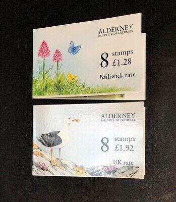 Alderney, Great Britain SG70ab & 72ab Complete Booklets MNH