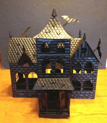 YANKEE CANDLE BONEY BUNCH HAUNTED HOUSE BATS HALLOWEEN ~ TEA LIGHTS Vintage
