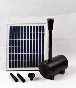500LPH 5W Solar Panel POND WATER Fountain Feature Solar PUMP Athelstone Campbelltown Area Preview