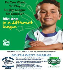 Junior Players wanted - South West Sharks Jrlc West Hoxton Liverpool Area Preview
