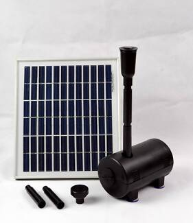 500LPH 5W Solar Panel POND WATER Fountain Feature Solar PUMP