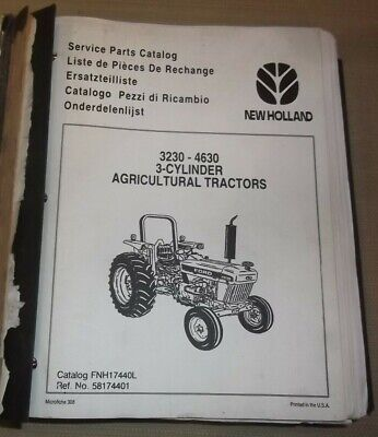 Ford New Holland 3230 3630 3 Cylinder Tractor Parts Manual Book Catalog