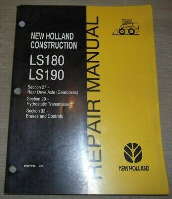 New Holland Ls180 Ls190 Skid Steer Loader Transmission Service Repair Manual