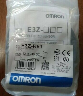 Omron E3z-r81 Photoelectric Switch Sensor 2m 12 To 24 Vdc New