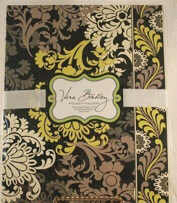 Vera Bradley Pocket Folders 4 Folders Wlabels -baroque