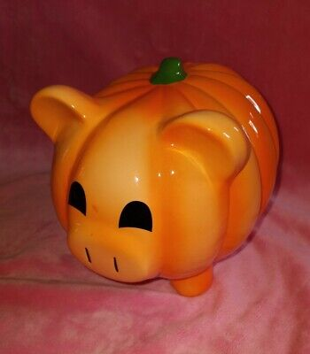 Target, Ceramic Halloween Piggy Bank Pumpkin EUC 2012