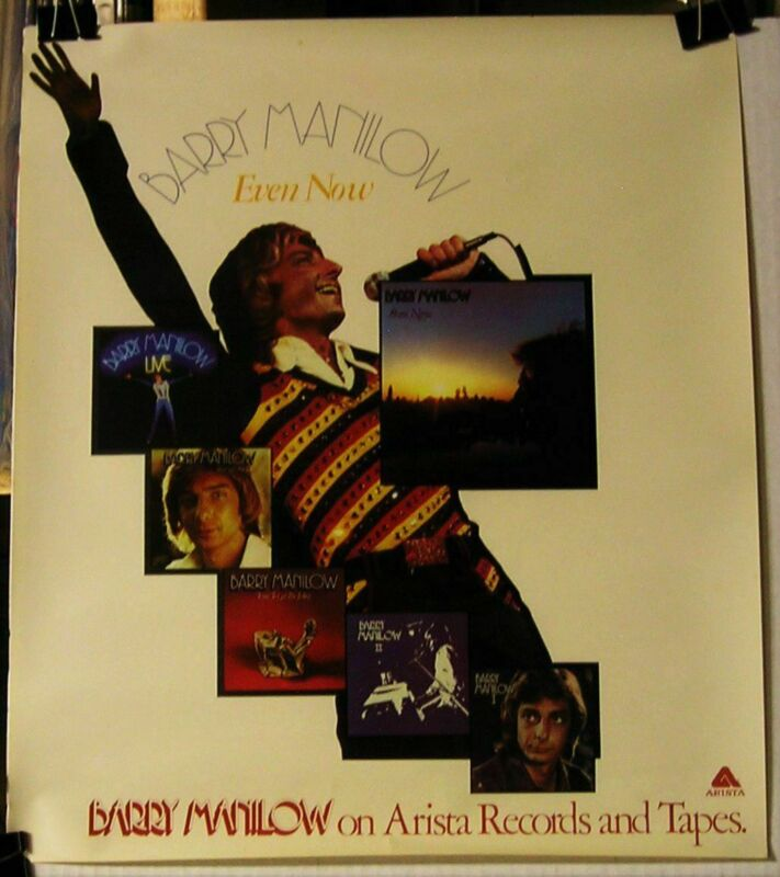 Barry Manilow-Even Now-ORIGINAL 1978 18x16 PROMO Poster-NOS!