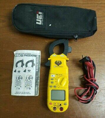 Uei G2 Phoenix Pro Dl379 Trms Digital Clamp-on Multimeter W Leads - Mint