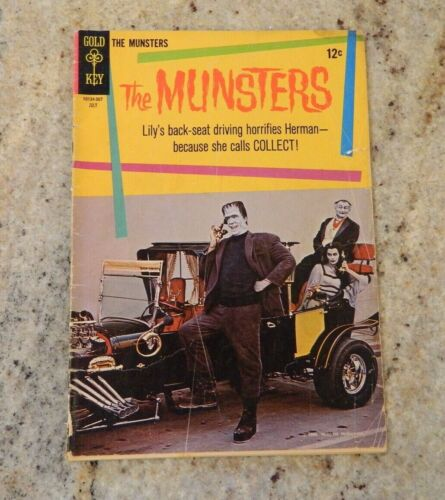 1965 Gold Key Comics - The Munsters #3 July 10134-507 TV Photo Silver Age