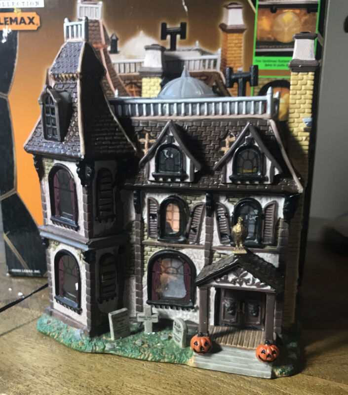 Lemax Spooky Town ~ The Alford Mansion ~ Lighted Halloween Village IN BOX