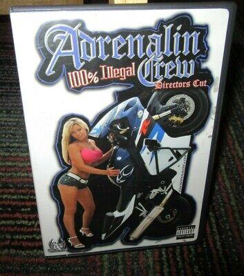 ADRENALIN CREW - 100% ILLEGAL DIRECTOR'S CUT DVD, MOTORCYCLE & CAR STUNT, PRANKS - Adrenalin Crew