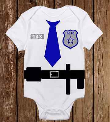 Adorable Halloween Costume Onesie Police Officer Cop Funny unisex baby clothes](Funny Cop Costume)