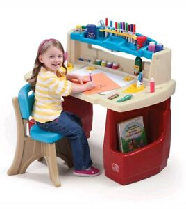 Table Play Storage Desk Art Painting Drawing Kids Chair Deluxe Master  Activity