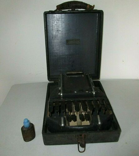 Vintage Stenograph Machine with box by The Hedman Company Chicago, USA