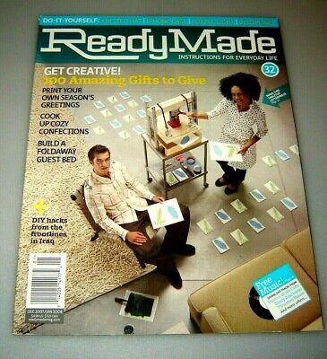 Ready Made #32 Magazine January 2008 Craft Ideas   back issue - January Craft Ideas