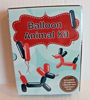 Balloon Animal Kit with Step-by-Step Instruction Book & 50 Balloons NEW - Balloon Animals Instructions