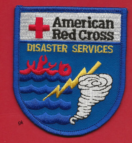 AMERICAN RED CROSS   DISASTER SERVICES  FIRE HURRICANE SHOULDER PATCH