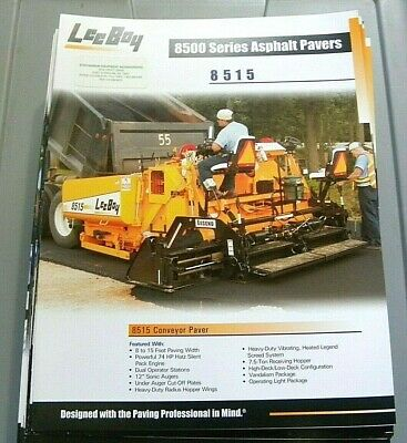 Factory Oem Dealership Brochure Leeboy 8515 Paver 5-06 Asphalt