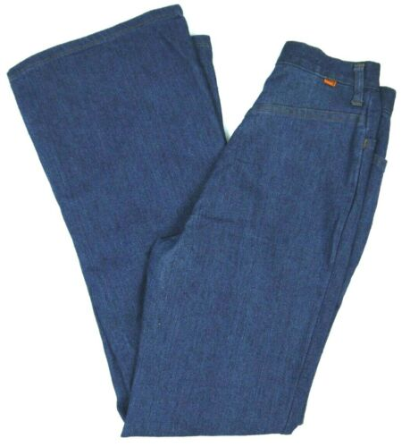 Vintage 70s Levis Bell/Flare Bottom Jeans Womens 26x32 Orange Tab High Waist