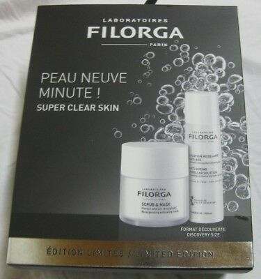 Neues Set Scrubs (FILORGA Geschenkset 55ml SCRUB & MASK,+ SOLUTION NICELLAIRE ANTI-AGE NEU)