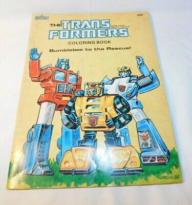1984 The Transformers Coloring Book Bumblebee To The Rescue
