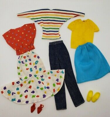 Vintage Barbie 80s My First Easy Fashions Tops Shirts Skirts Pants Lot