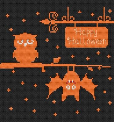 Happy Halloween Owl Cross Stitch Kit by Florashell ()