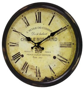 Style ancienne horloge pendule murale style de gare - Horloge de gare murale ...