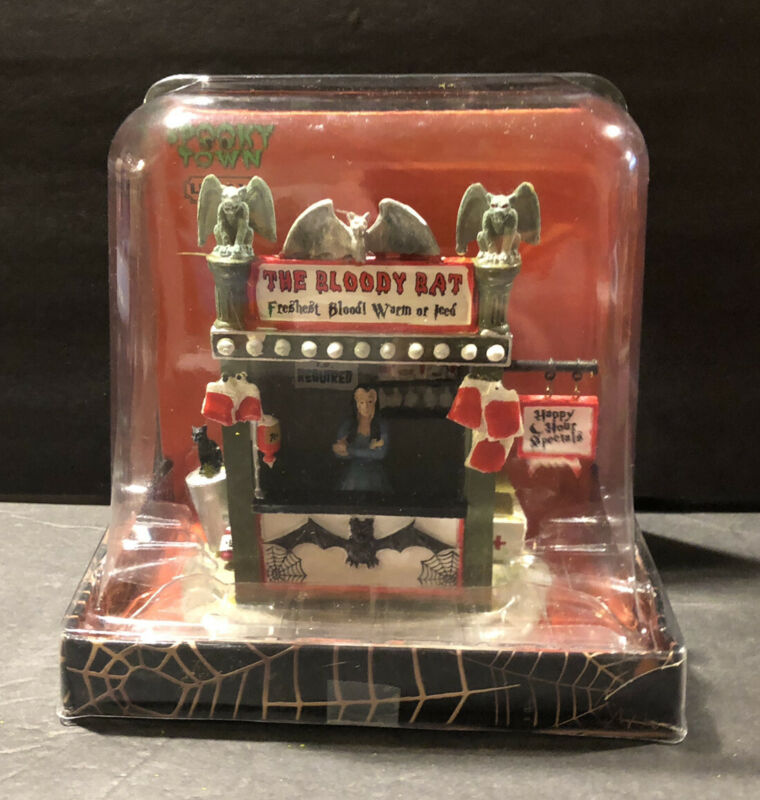 """LEMAX 2013 HALLOWEEN SPOOKY TOWN COLLECTION  #33005 """"THE BLOODYBAT"""" RARE"""
