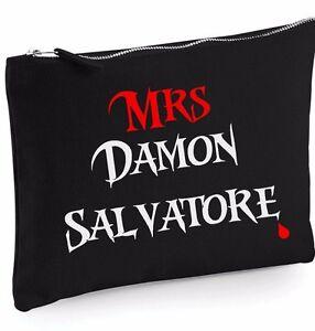 Vampire-Diaries-Mrs-Damon-Salvatore-estuche-de-Maquillaje-Funda-Estampados