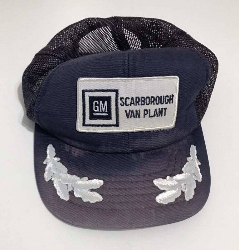 VTG GM trucker Hat Scarborough Van Plant Snapback Faded
