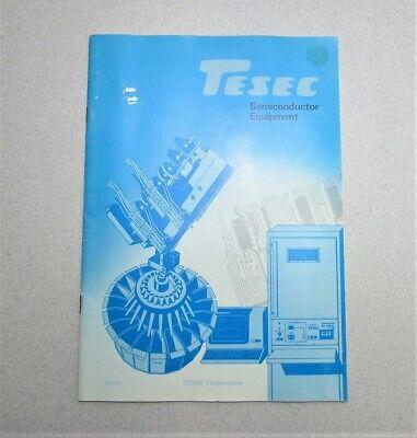 Tesec Corp. Semiconductor Equipment Catalog 1982-83 Edition