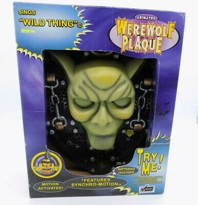 1998 Animated Werewolf Plaque Gemmy Halloween Decoration Sings Wild Thing