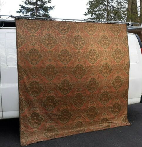 Large Antique Silk Fabric Tapestry