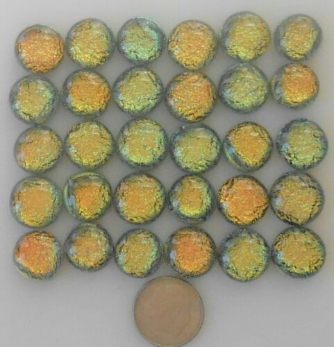 dichroic glass cabochon lot of 30 fused COE 90 cab hand made crafted