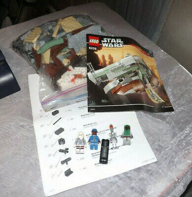 Lego Star Wars Boba Fett Slave 1 (6209) 2nd Edition, 100% Complete ALL MINIFIGS!