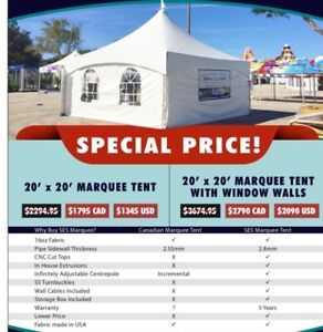BRAND NEW TENTS PERSONAL TO BUSINESS
