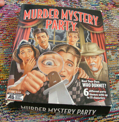 MURDER MYSTERY PARTY Vintage 1999 Big Box Computer PC Game Valusoft Windows Clue