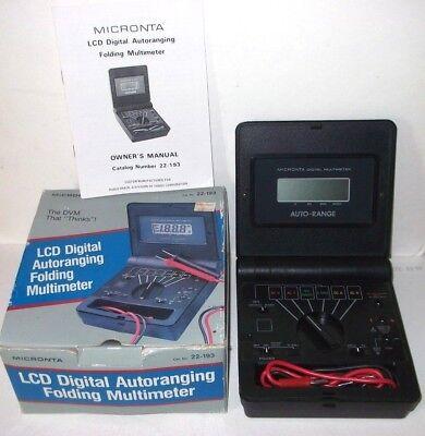 Micronta Lcd Digital Autoranging Folding Multimeter 22-193 Vintage Instructions