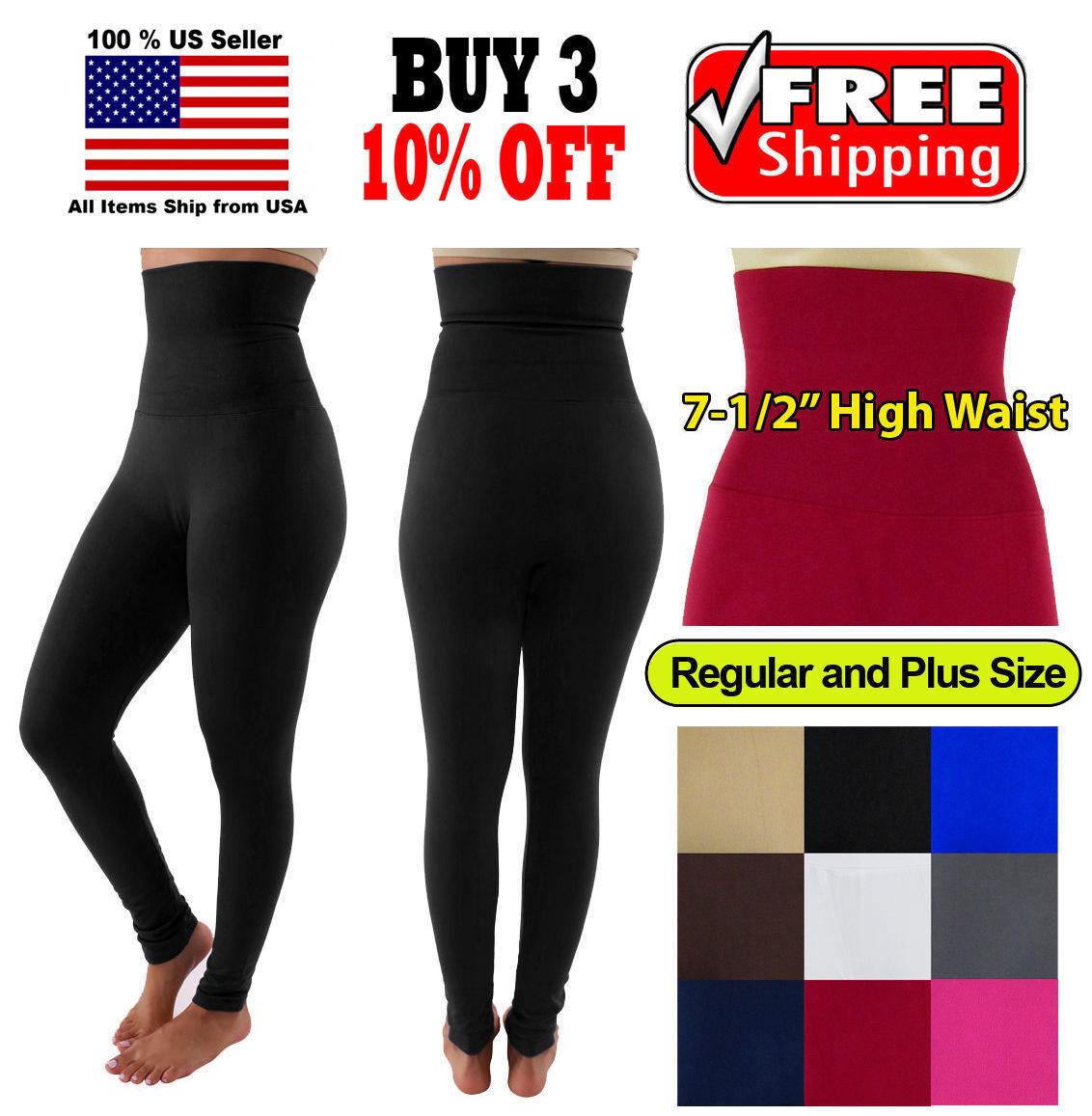 Women Slim High Waist Tummy Control Compression Body Shaper Fleece Leggings Clothing, Shoes & Accessories