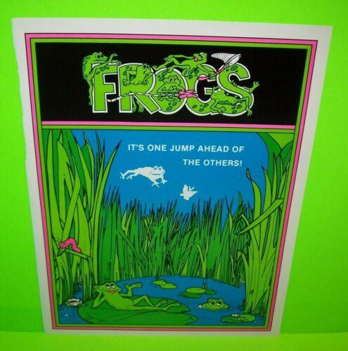 Frogs Arcade FLYER Original Gremlin Vintage Video Game Artwork Sheet 1978