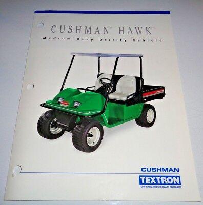 Cushman Textron Hawk Utility Vehicle Sales Brochure Gas Electric