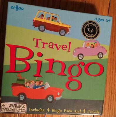 Eeboo Travel Bingo Game Oppenheimer Best Toy Award Car Games  New