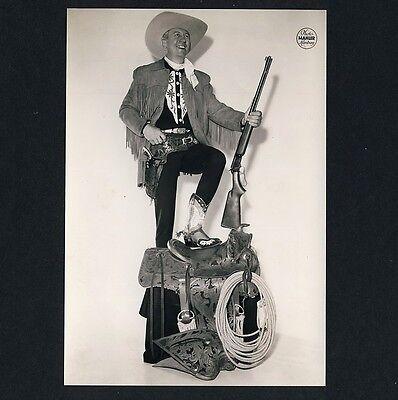 FRED GORDON Cowboy / Zirkus Circus Rifle * Werbe-Foto um 1975 #1